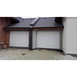Brama garażowa - panel biały