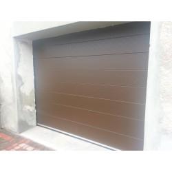 Brama garażowa - panel brązowy