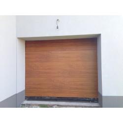 Brama garażowa - panel złoty dąb