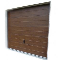 Brama garażowa - panel orzech