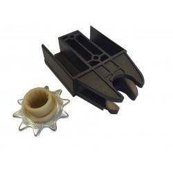 Wspornik koła zębatego + koło zębate